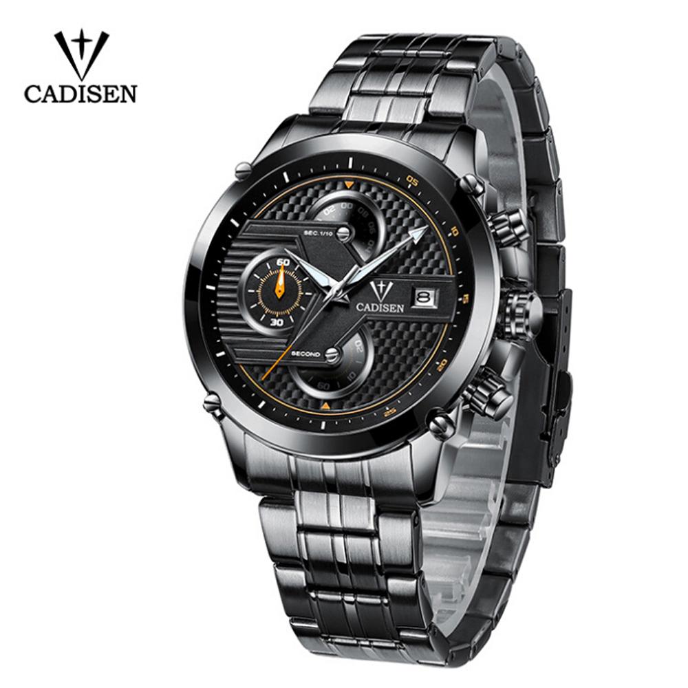 2018 New CADISEN Men's Casual Watch Chronograph Luxury Brand Quartz Wrist Watches Military Men Clock Male Waterproof Sport Watch splendid brand new boys girls students time clock electronic digital lcd wrist sport watch