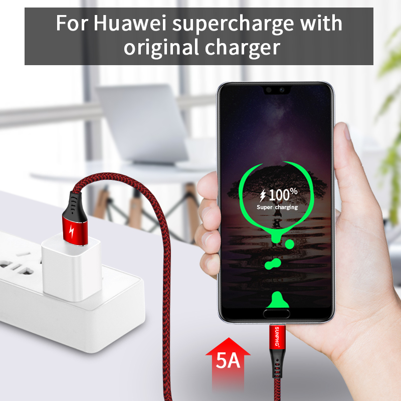 SUNPHG USB C Type C Cable 5A Fast Charger Wire Date Sync For Huawei Mate 20 Pro P20 Lite Pro Xiaomi Redmi Note 7 Samsung S9