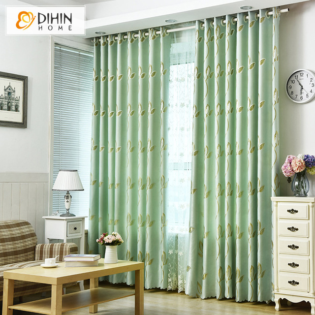 US $32.63 |DIHIN HOME Pastoral Blackout Curtain Drape Shade Curtain For  Living Room Bay Window Bedroom Curtain Panels Custom Made-in Curtains from  ...