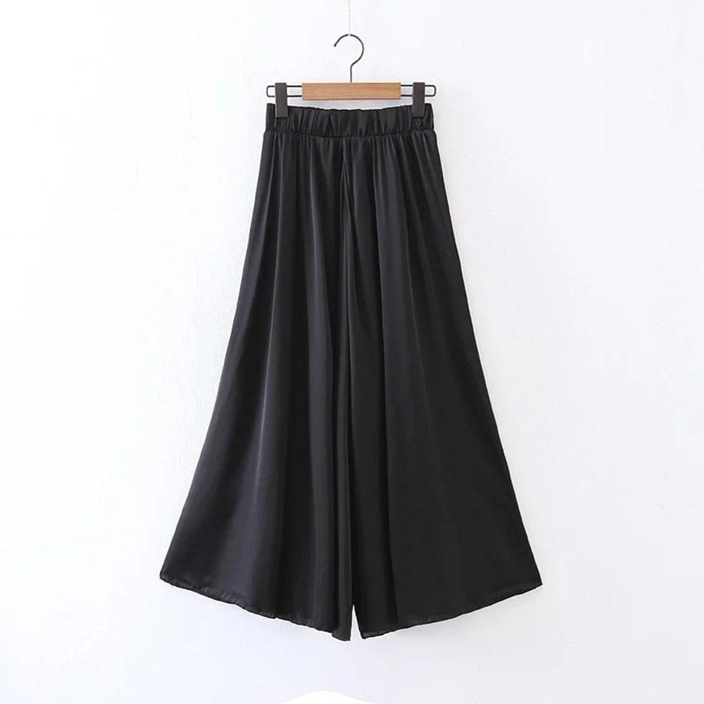 Pop Pantalones Alta Negro Venta Ancho Mujer Verano Black champagne Plaid Tamaño Pantalón Loose Moda Largo Mujeres Más Cintura Casual Niza R4qwxp