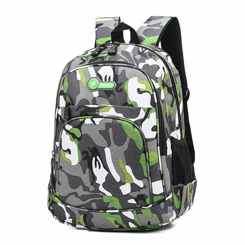 2 Sizes  Book Bag Camouflage Waterproof School Bags Girls Boys Children Mochila Escolar Schoolbag