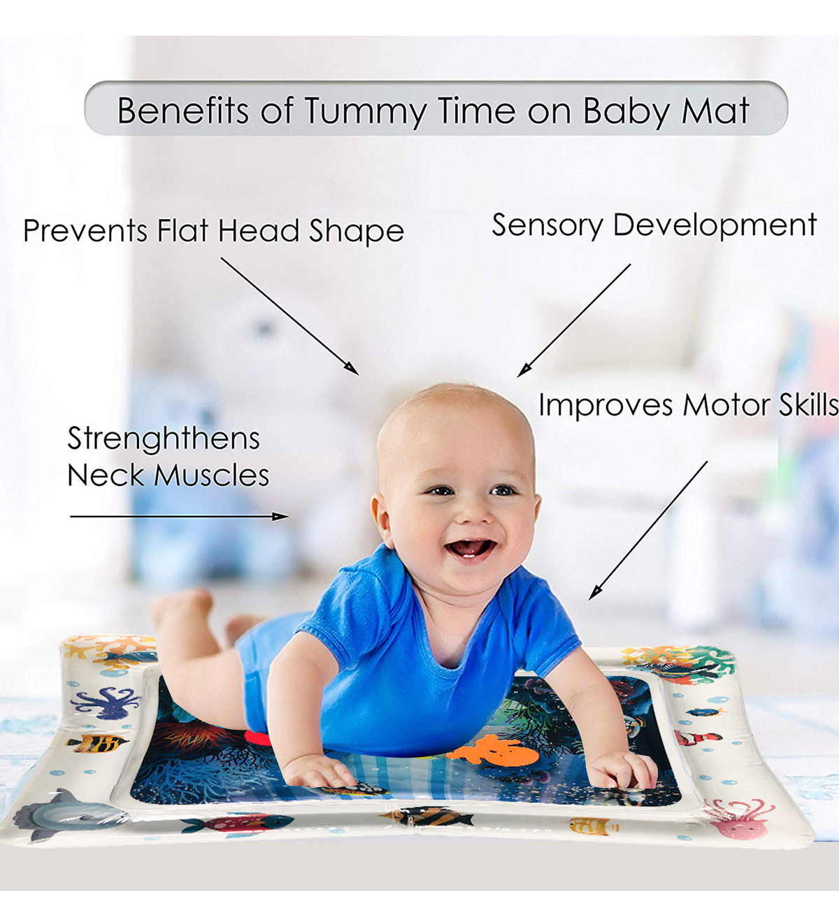 HTB1K5lXMFYqK1RjSZLeq6zXppXaw 2019 Creative Water Mat Baby Inflatable Patted Pad Baby Inflatable Water Cushion Infant Play Mat Toddler Funny Pat Pad Toys