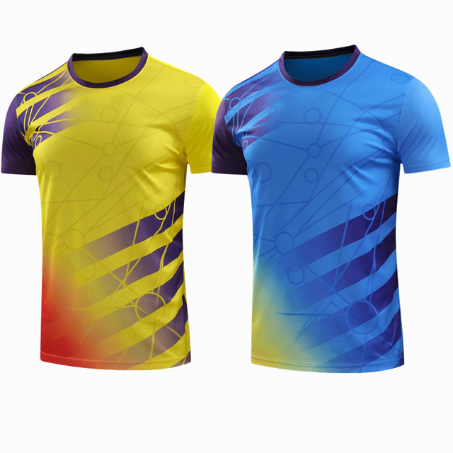 ca1ee58a0 Odzież sportowa szybkie pranie oddychająca koszula badminton, kobiety/ mężczyźni tenis stołowy ubrania zespół gra