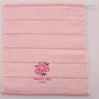 Pink Cute Dry Bath Towel Pink Rose Fragrance 70X140cm 100% Cotton Baby Face Hand Washcloth Soft Quick Embroidered Towel X051