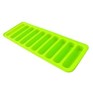 Силиконовые гелевые формы для торта ледяной куб лоток 10 большого пальца торт Леди пальцы плесень (зеленый)