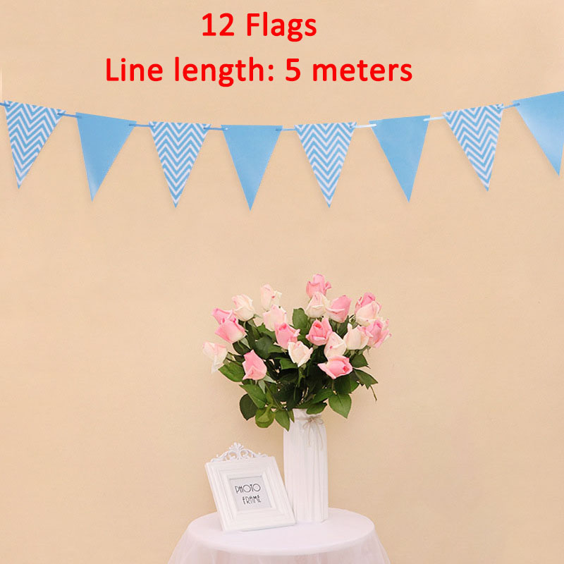 Image 5 - Lincaier I Am Five Kraft Paper Banner 5 Years Birthday Boy Girl 5th Balloons Party Decorations Fifth Bunting Garland Pink Blue-in Ballons & Accessories from Home & Garden