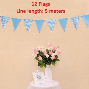 Image 5 - Lincaier eu sou cinco kraft papel banner 5 anos aniversário menino menina 5th balões decorações de festa quinto bunting guirlanda rosa azul