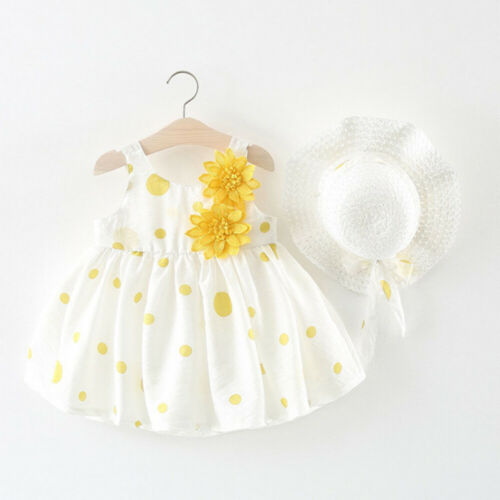 Toddler Baby Girls Flower Dress Princess Party Pageant Tutu Dress Sunhat Outfits in Dresses from Mother Kids
