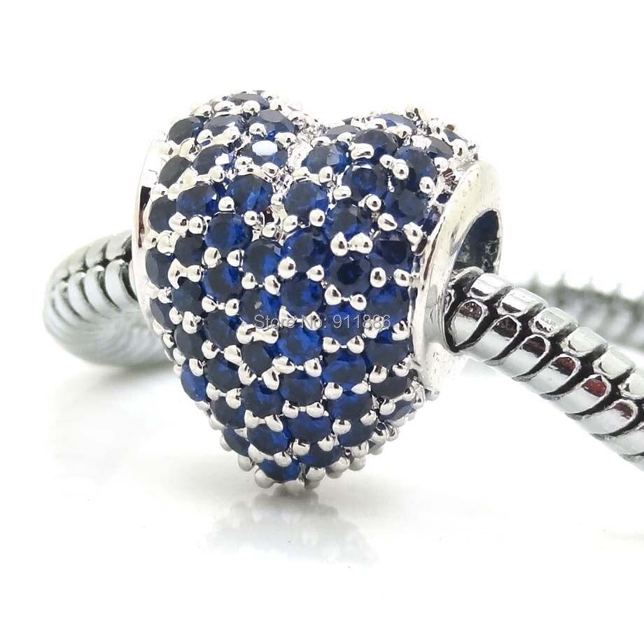 charm pandora cuore blu