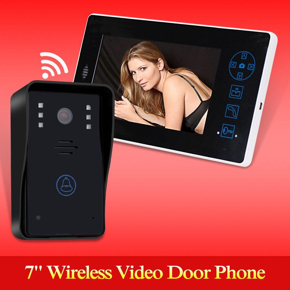 2.4 г 7 TFT Беспроводной телефон видео домофон Дверные звонки охранных Камера Мониторы изделие громкой связи для контроля доступа