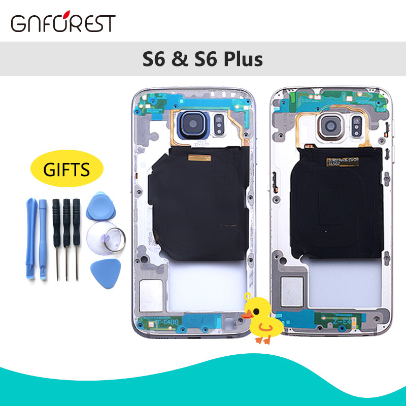 Housing Glass-Cover Middle-Frame S6-G920f Samsung Chassis-Plate Battery Replacemenrt