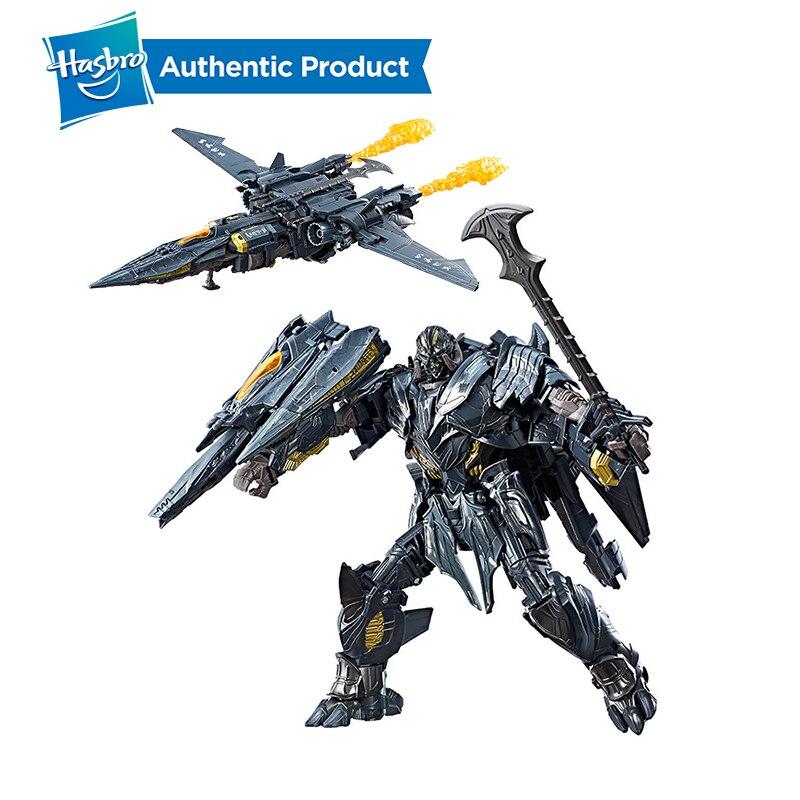 Hasbro transformadores brinquedos o último cavaleiro premier edição líder classe megatron decepticon figura de ação coleção modelo bonecas