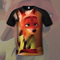 [XHTWCY] Zootopia T Shirt New Cartoon Summer Men T shirt Nick Fox Judy Rabbit 3D printing civil war design Kcco Tshirt lo