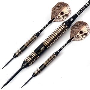 Image 2 - New CUESOUL 23g 25g 27g Professional Steel Tip Darts Black Dart Body With Dart Flights