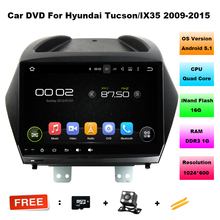 9 inch 1024*600 Quad Core Android 5.11 Car DVD Radio for Hyundai Tucson/ ix35 2009-2015 with GPS navigation/wifi/map/Camera