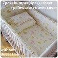 Promoção! 6 / 7 PCS conjuntos de cama colcha de berço bumper consolador folha bumper, 120 * 60 / 120 * 70 cm
