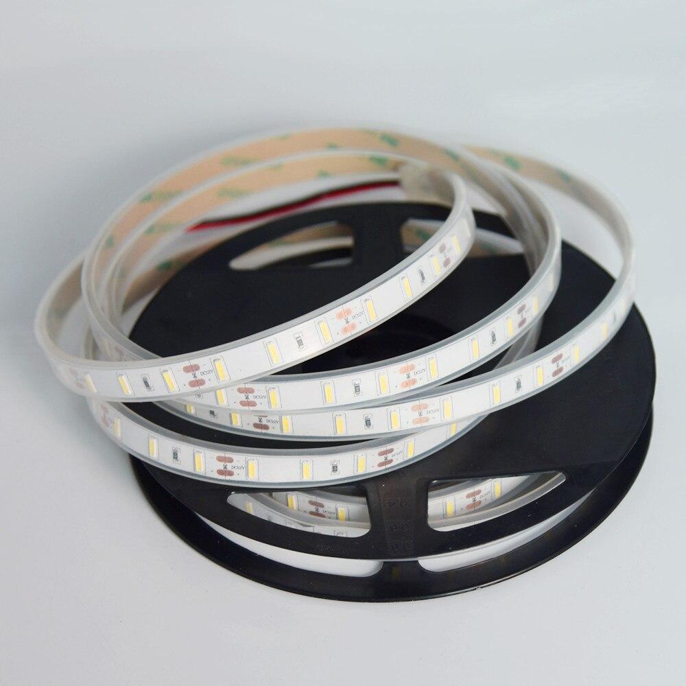 Nouvelle bande de LED 7020 SMD 300 LED s/5 M DC12V blanc intérieur LED étanche ruban Flexible ruban décoration de la maison lampe
