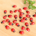 50 UNIDS/LOTE color Mezclado mini madera mariquita, Mariquita De Madera juguetes de Los Niños