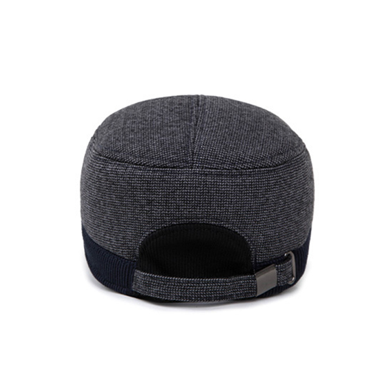 d74113e5beb Aliexpress.com   Buy Wuaumx Thicken Winter Hat For Men Baseball Cap With  Ear flaps Mens Crochet Hats Bone Snapback Cap Ear protection Hat Adjustable  from ...