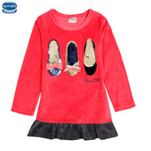 novatx F6755 retail baby girl clothes 2016 new fashion t shirts toddler girls embroidered designs long sleeve children hot wears