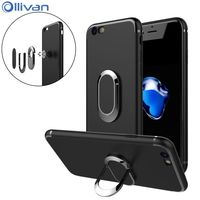 Ollivan 6 S Full Cover Case For Iphone 6 Case Silicon TPU Cover Magnetic Car Holder