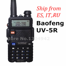 BaoFeng UV-5R Walkie Talkie Black CB Two Way Radios VHF/UHF 136-174&400-520MHz Dual Band Amateur Handheld UV 5r Portable Radio