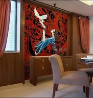 مخصص جدارية 3d أريكة نوم خلاصة الرياح وطني الإنسان هيئة الفن ktv بار فندق قاعة الموسيقى خلفيات جدارية