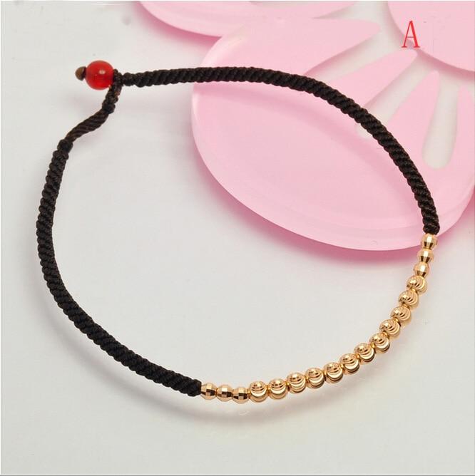 Italie design nouveauté or Rose perles en vrac armure Bracelet