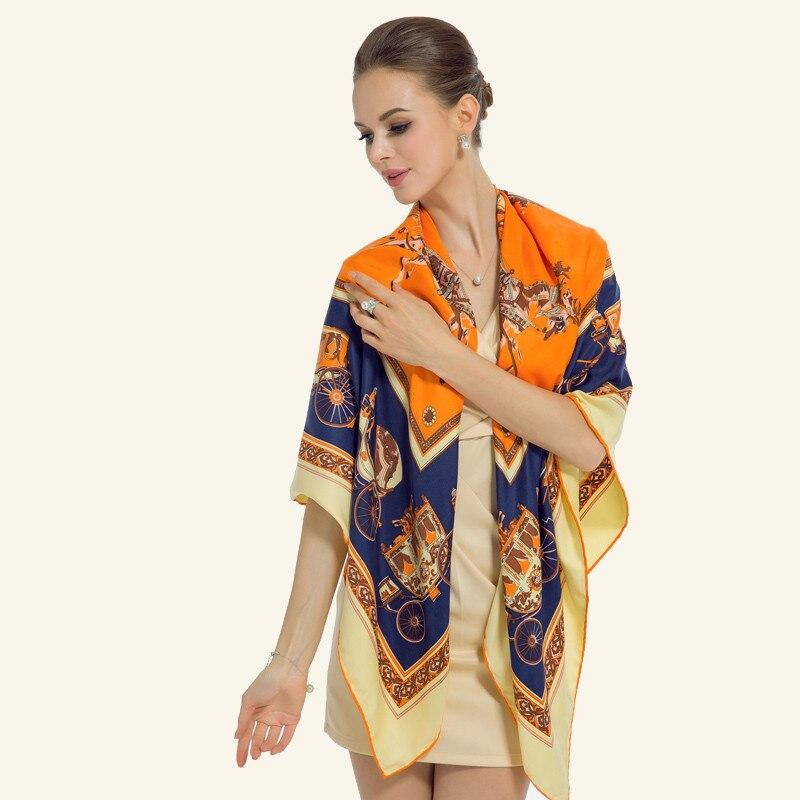 100% Twill Silk Women Scarf Եվրո փոխադրումներ - Հագուստի պարագաներ