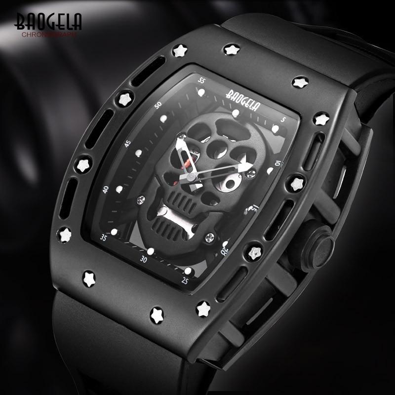 Baogela futuristico moda cool casual uomo orologio sportivo silicone - Orologi da uomo