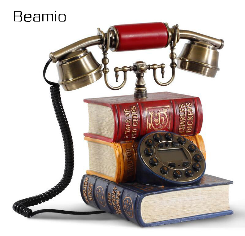 Continental Hotel Arts kindly telephone retro phone landline telephone household fixed antique books