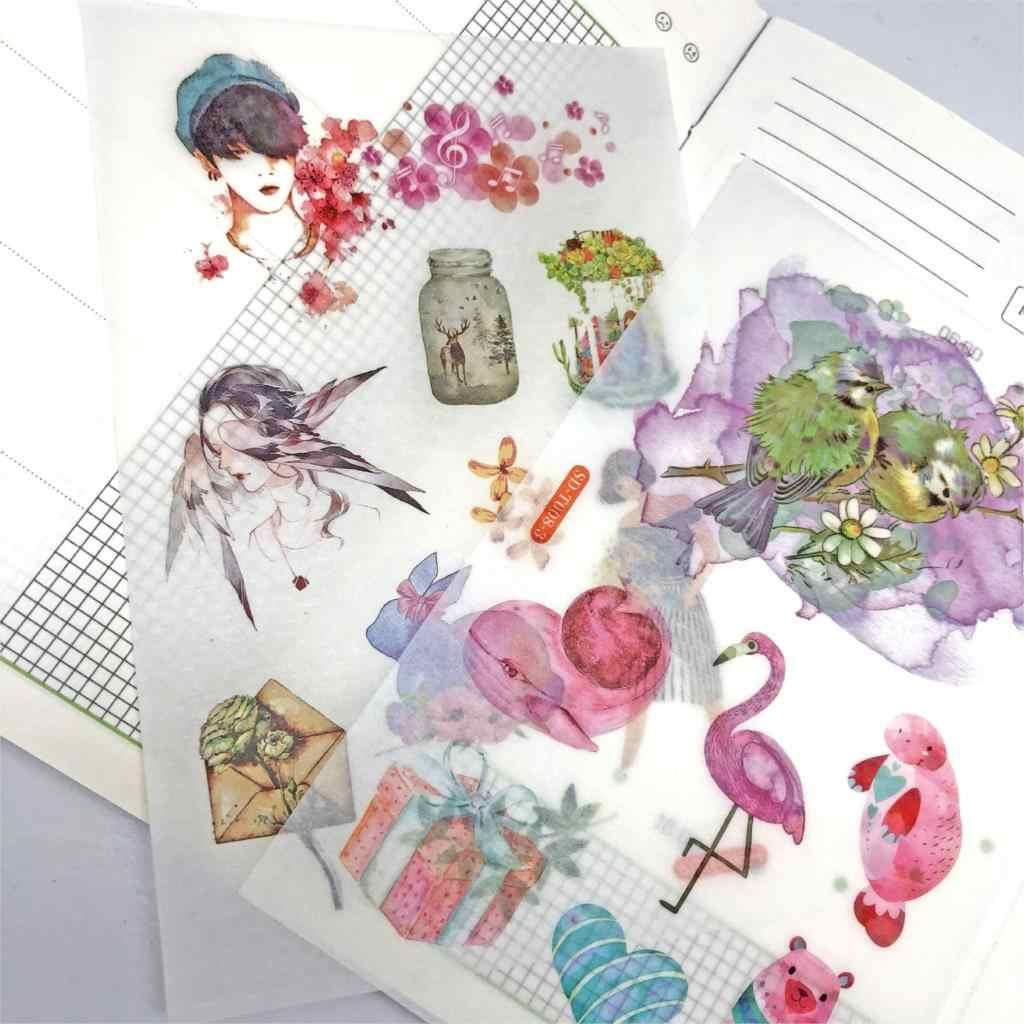 Vida de Kawaii Dos Desenhos Animados Etiqueta Adesivos Decorativos Papelaria Etiquetas Scrapbooking DIY Álbum Diário Etiqueta Vara de Material Escolar