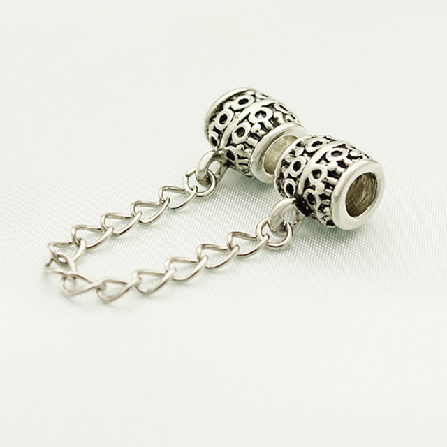 Free Shipping Head Individuality Unique Security Chain Charm Beads Fit Pandora Bracelet