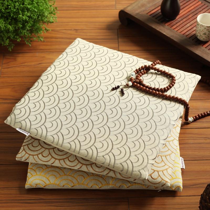 Nobildonna Linen Embroidery Floor Cushions Buddhism Pad