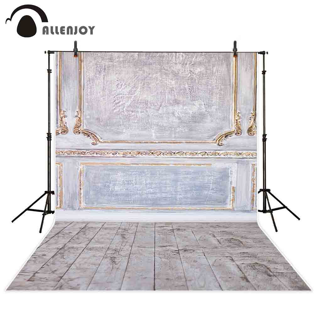 Allenjoy vintage surface frame wooden wall and brown floor indoor texture real panel background photographic backdrop for photo
