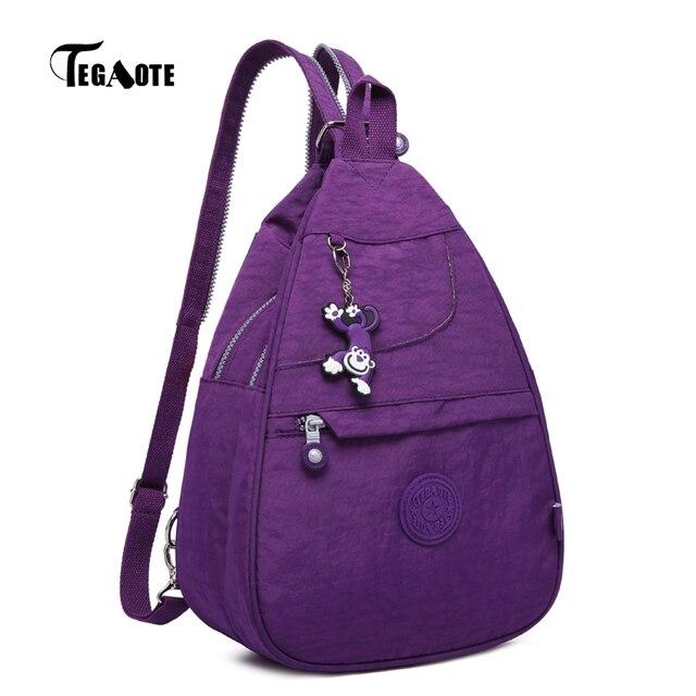 fecce795e4a6 TEGAOTE Small Backpack for Teenage Girl Infantil Backpacks Women Bolsas  Mochila Feminina Solid Nylon Waterproof Travel