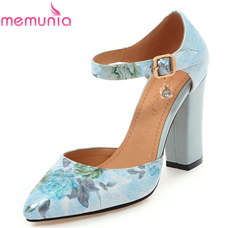 MEMUNIA new arrive women pumps elegant fashion pointed toe shallow buckle spring autumn single shoes platform high heels shoes memunia 2018 new arrive women pumps