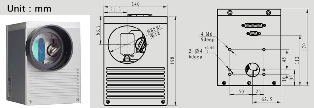 cab08065a1b5a 10.6um laser galvanômetro Digitalização digital digital scanbox abertura  20mm co2 laser tipo econômico golvotech galvonometer M85X1