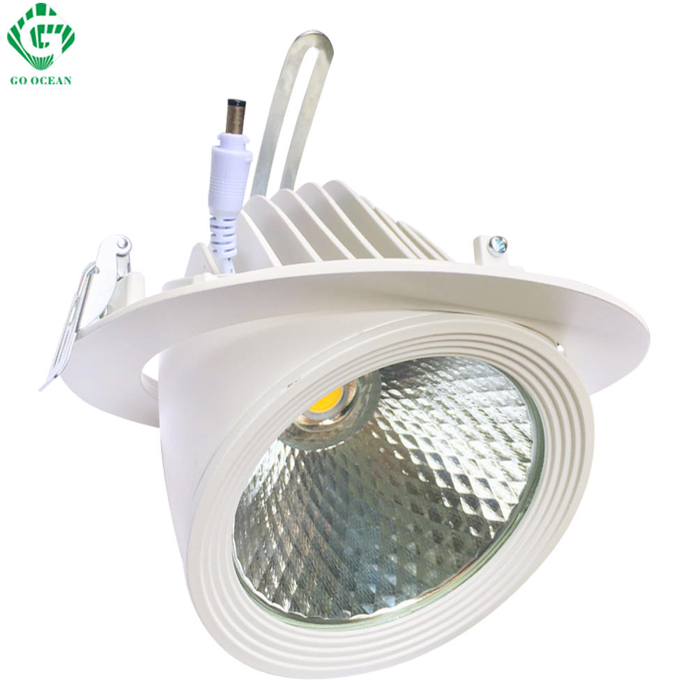 Downlights Down lights 30W Foyer Dimbare downlight COB LED Verzonken - Binnenverlichting