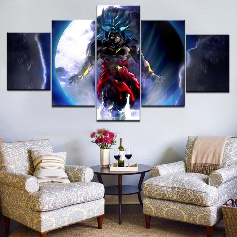 5Panel HD Impreso El jefe de DRAGON BALL Personajes de dibujos - Decoración del hogar
