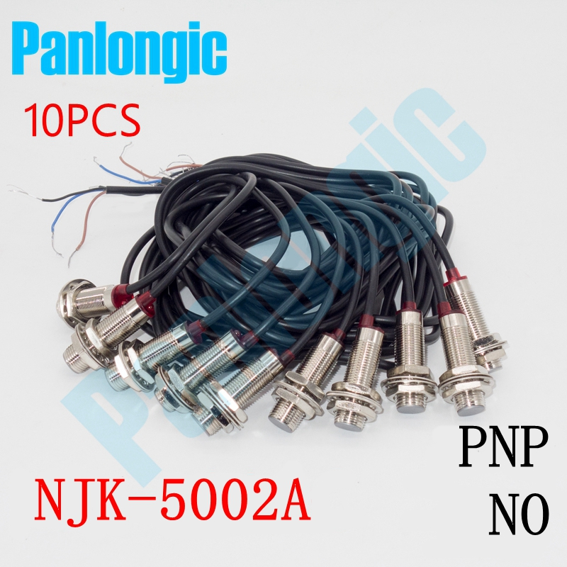 10PCS NJK-5002A PNP NO Normally Open 10mm Hall Effect Sensor Proximity Switch DC 6~36V Inductive Proximity Sensor Switch 3p aviation connector 2 wire dc 6 36v npn no 8mm inductive proximity switch