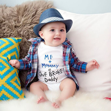 Baby Rompers Newborn Baby Boys Girls Clothes Short Sleeve Baby Clothing Infantil Body Bebes Next Jumpsuit Me+Mommy Letter