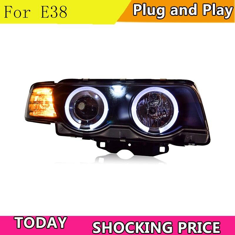 Style de voiture pour BMW E38 Phares 1998-2002 E38 phare led DRL Bi Xenon Objectif Haut Bas Faisceau Parking HID Brouillard lampe