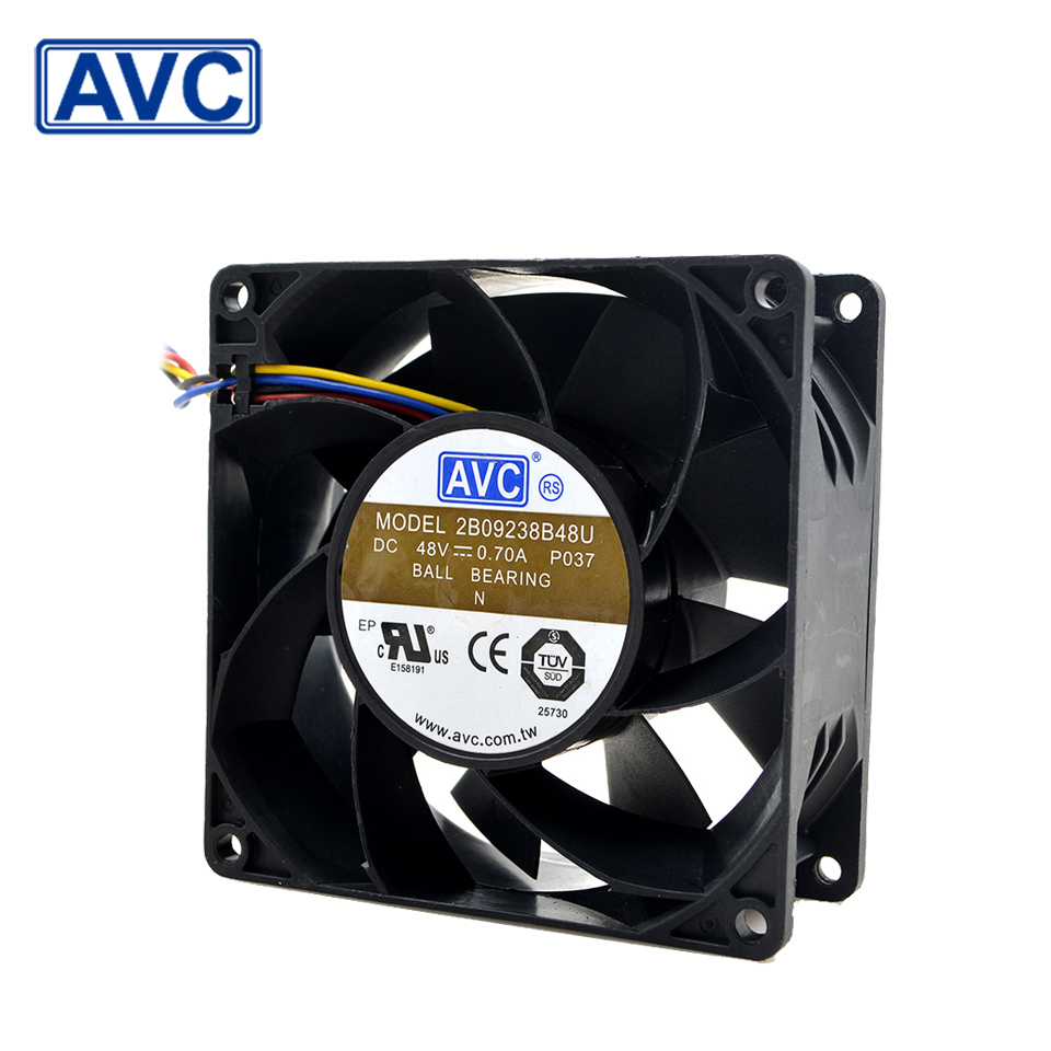 AVC  92*92*38 2B09238B48U 9238 48V 0.7A 4-wire radiator fan with Terminal converter 1600w 92