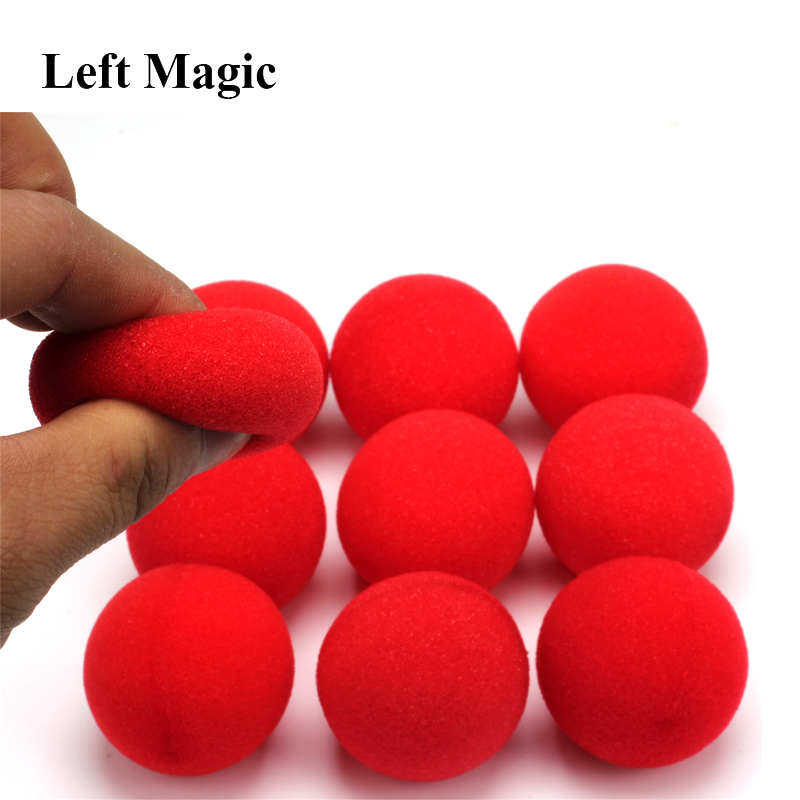 10PCS 4.5cm Finger Sponge Ball Magic Tricks Classical Magician Illusion Comedy Close-up Stage Card Magic Accessories E3132