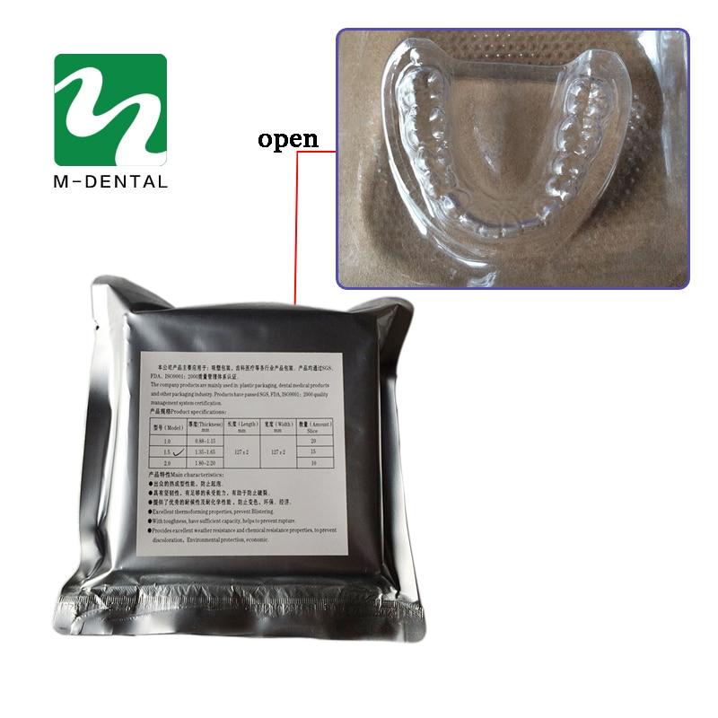 1 Bag Dental Material Hard Vacuum Forming Plate Matrix Bands Dental Orthodontic Retainer Slice 1.0mm/1.5mm/2.0mm for Option все цены