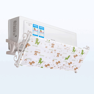 Image 4 - 壁掛け空調偏向器印刷オックスフォード生地フロントガラス防止直接吹いバッフル AQ114
