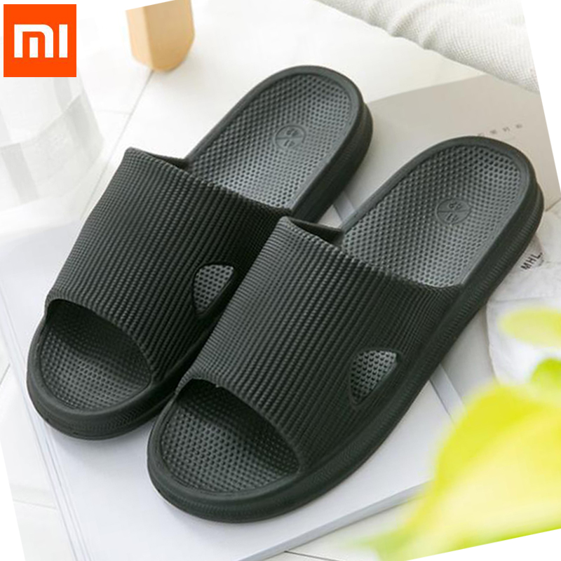 2019 Original Xiaomi mijia Slippers Soft Ladies Man Kids Bathing Sandals Children Casual Shoes Non-slip Home Shower Slippers(China)