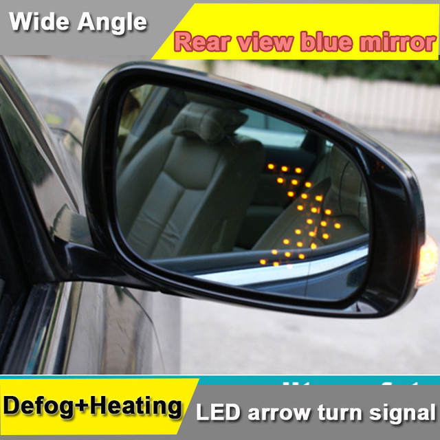 Side Door Rear View Mirror For Toyota Camry 2017 With Multi Curvature Blue Wide Angle Led Arrow Turn Signal Lamp Heat Defog
