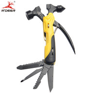 Mini 7 In 1 Multifunctional Clamp Outdoor Survival Foldaway Knife Pocket Size Hand Tools Set